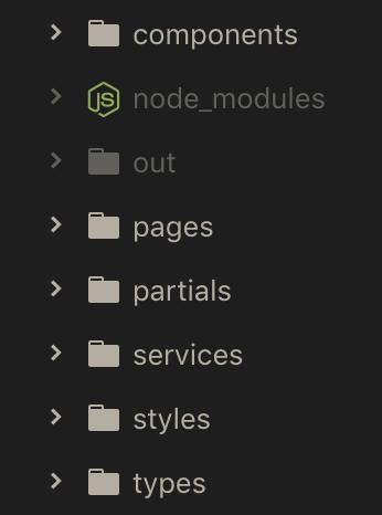 Next.js folder hierarchy