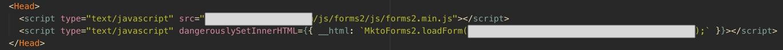 Wrap HTML in script with dangerouslySetInnerHTML
