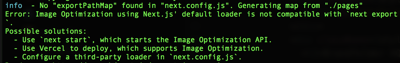 Terminal error with Image component