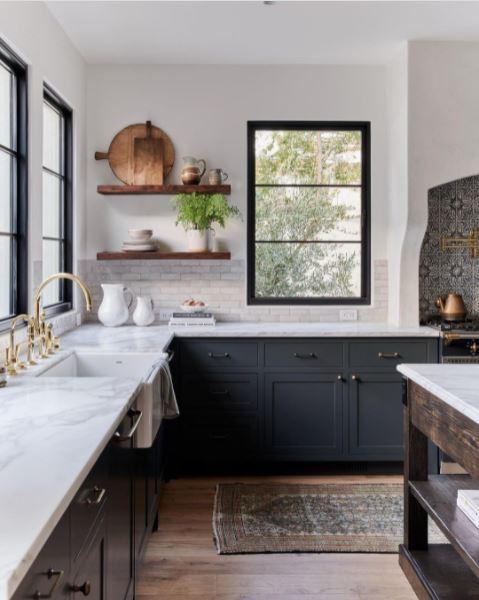 An attractive farmhouse-style kitchen