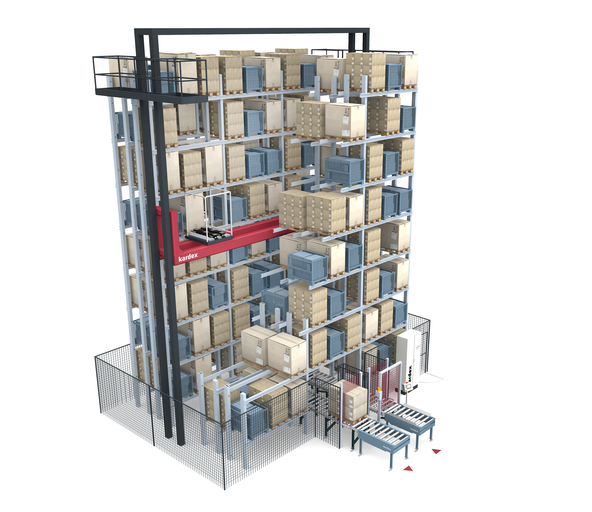 MTower Bild: MTower: High-bay warehouse with minimal footprint
