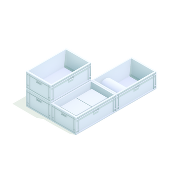 trays bins cartons