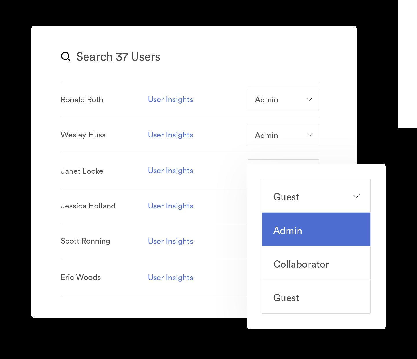View of user settings in Brandfolder