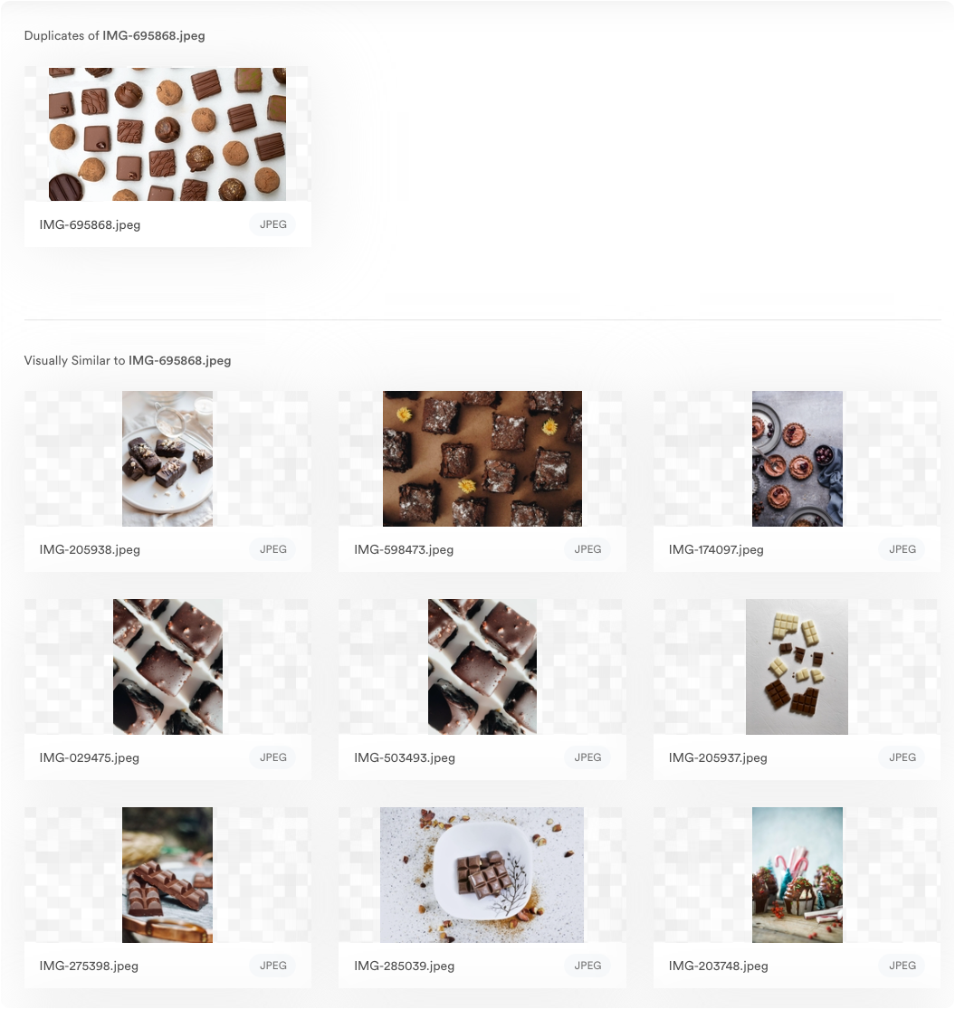View of image recognition in Brandfolder