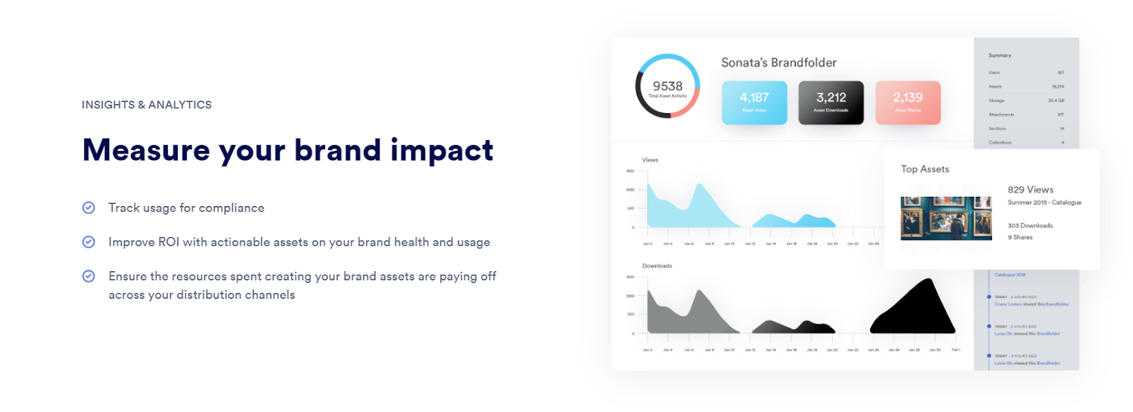 Overview of Brandfolder asset insights and reporting