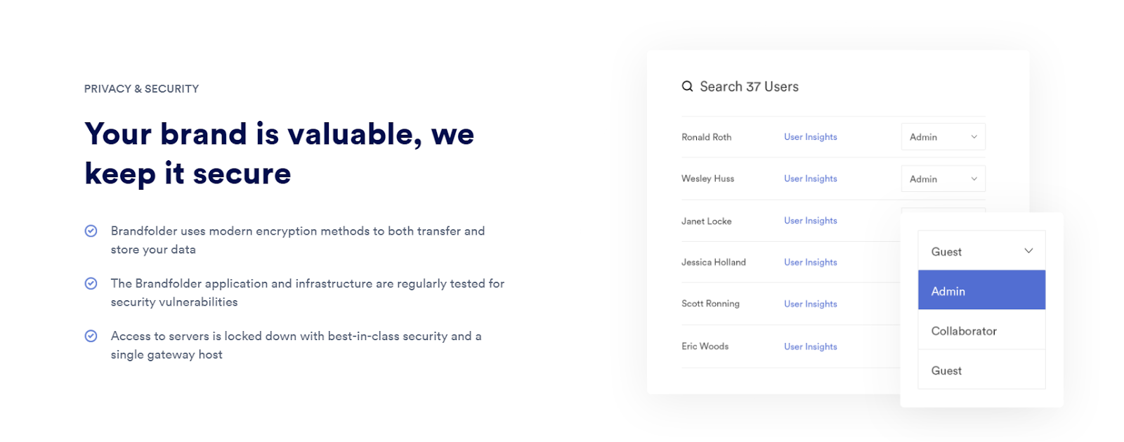 Overview of Brandfolder asset privacy and security