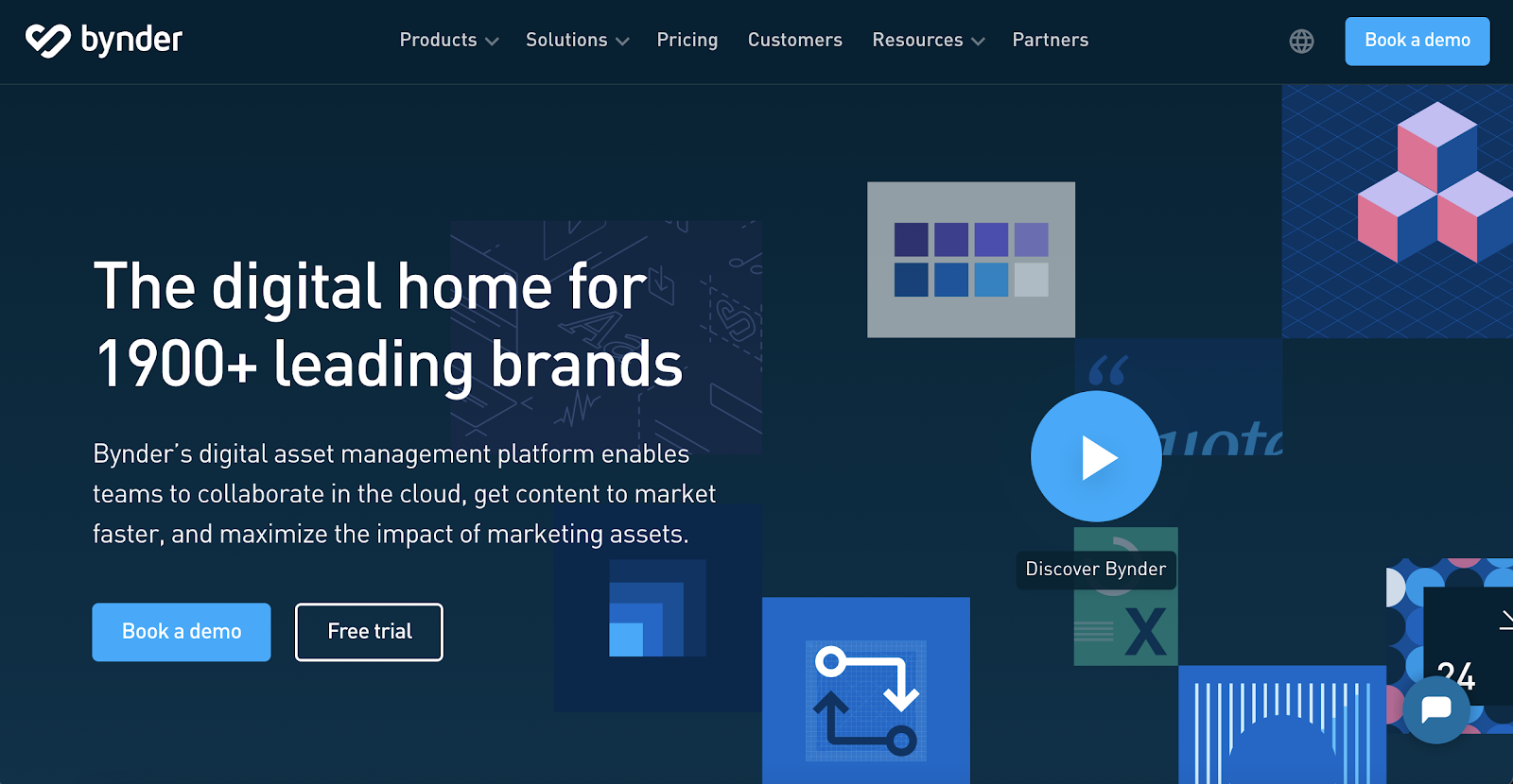 Bynder home page