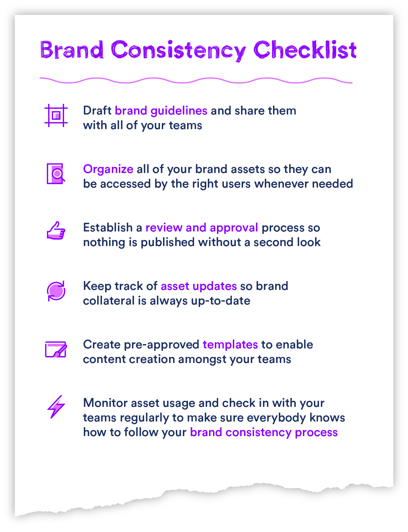 Graphic of the brand consistency checklist
