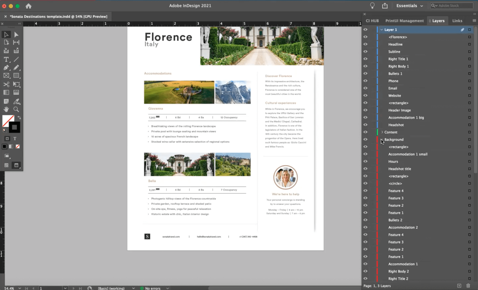 Locking template design elements in Brandfolder