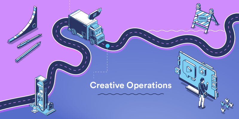 Header image for a creative operations infographic on creative roadblocks