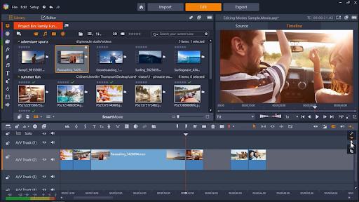 Screenshot of Pinnacle Studio
