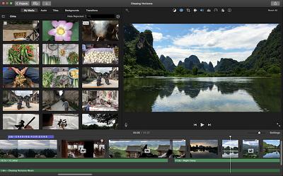 Screenshot of Apple iMovie