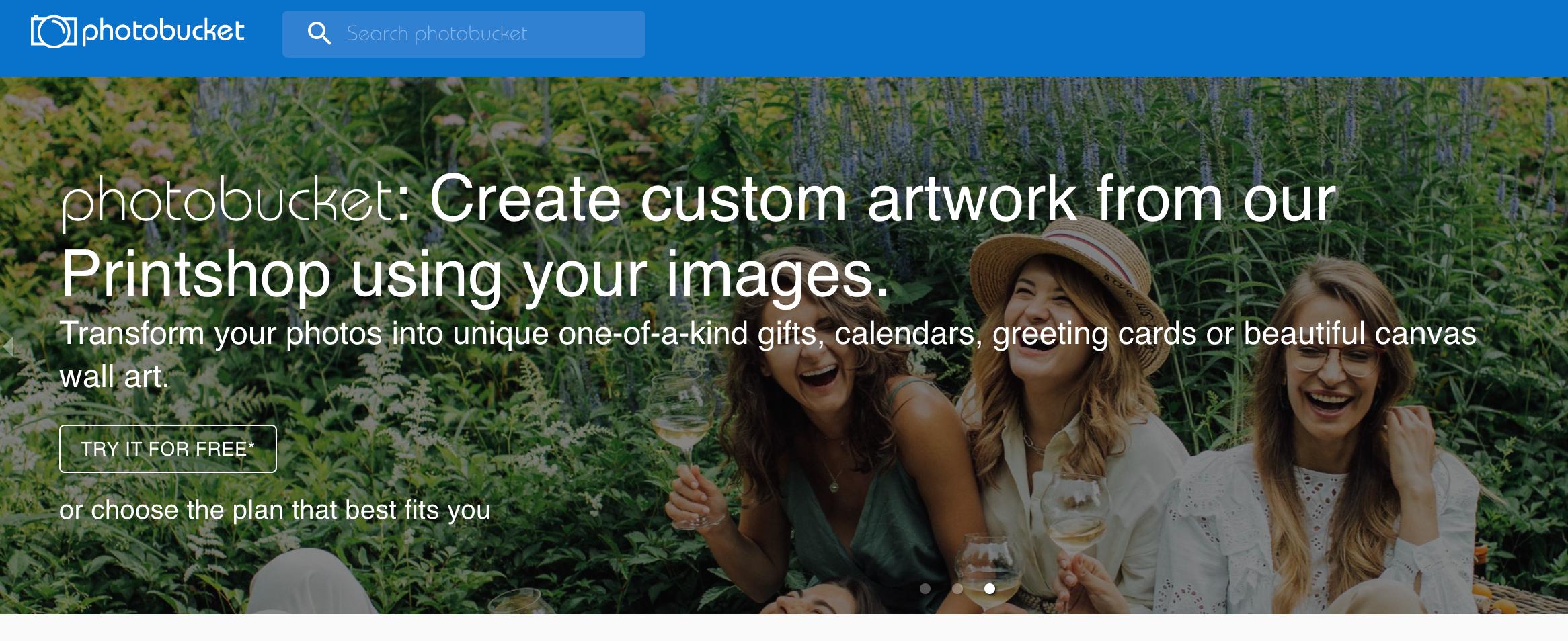 Photobucket homepage