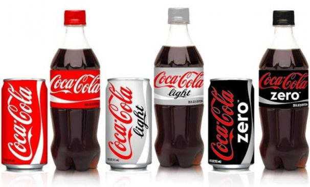 View of branded Coca-cola products