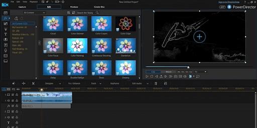 Screenshot of Cyberlink PowerDirector