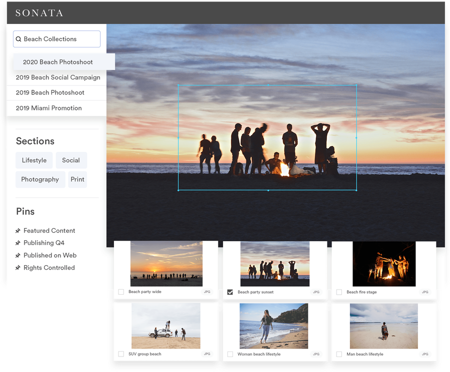 View of brand photography collection in Brandfolder