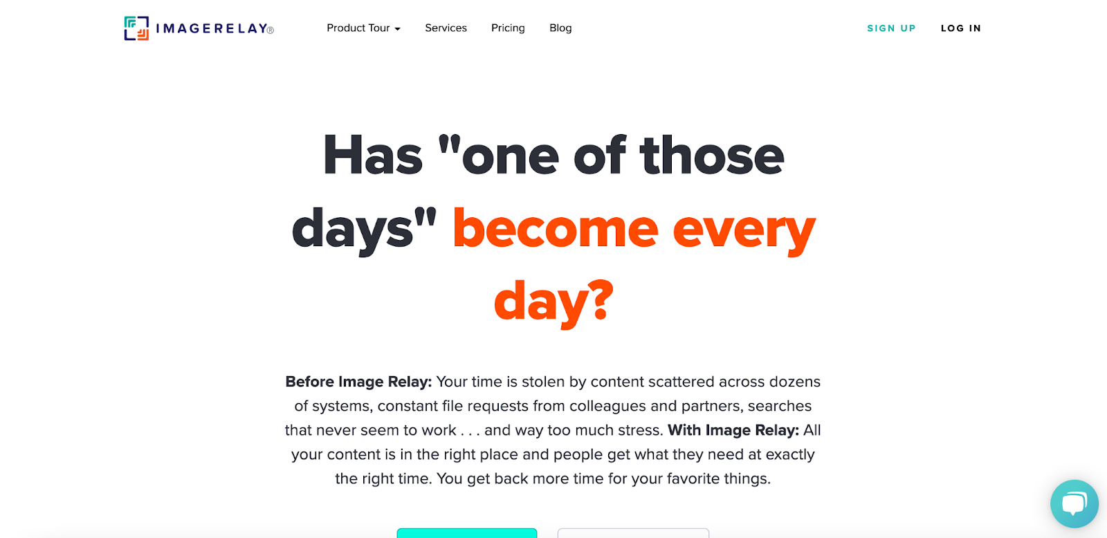 view of Image Relay homepage