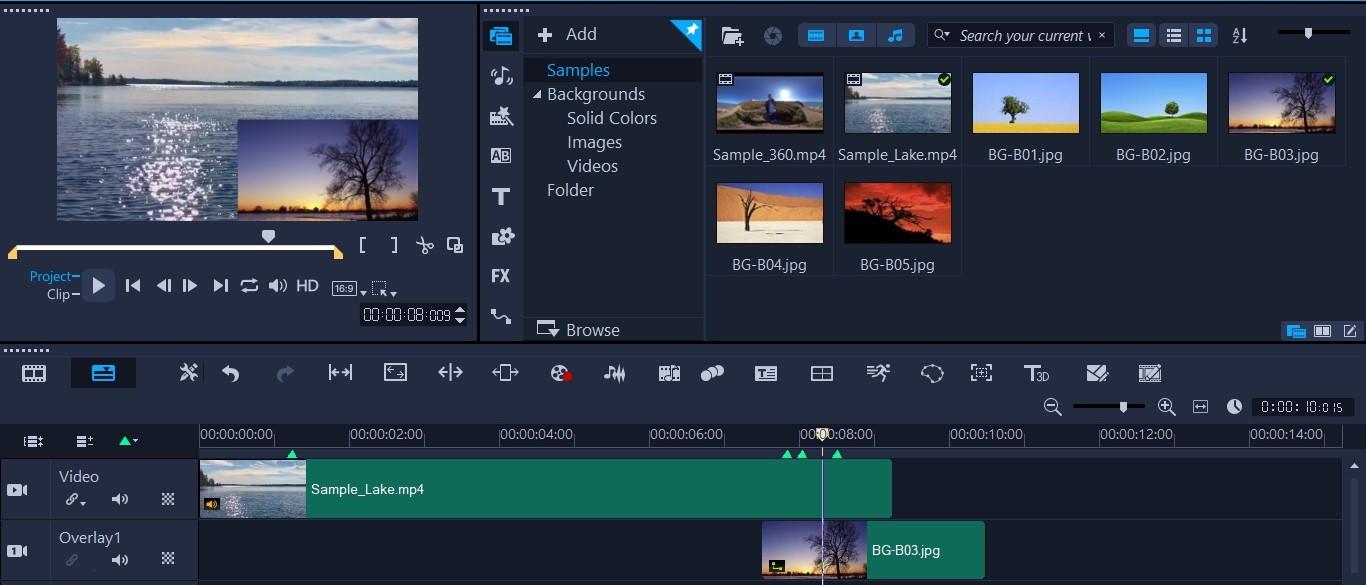 Screenshot of Corel VideoStudio Ultimate