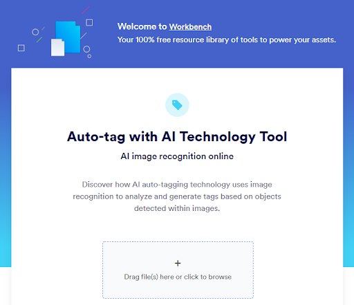 View of image auto-tagging tool in Brandfolder Workbench