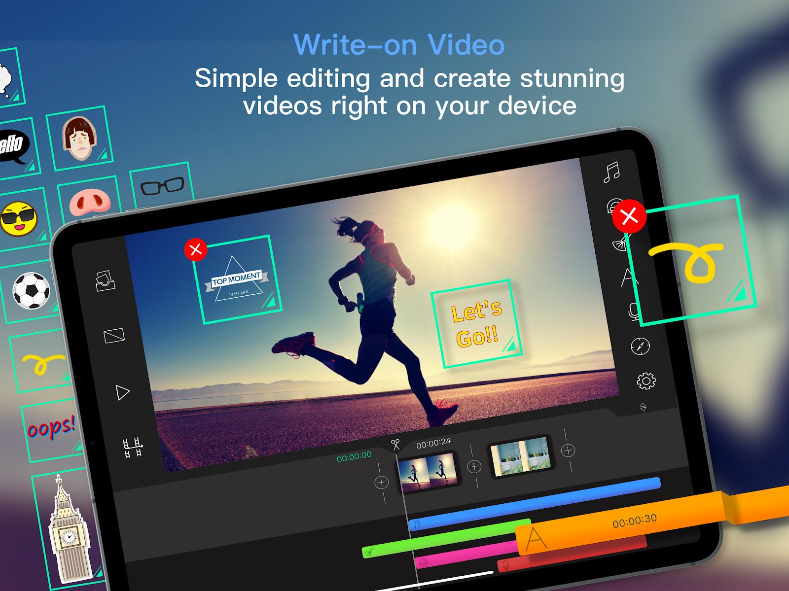 Screenshot of Write-On Video