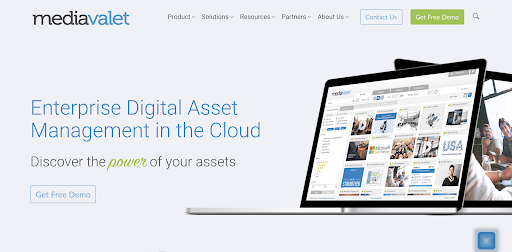 MediaValet homepage