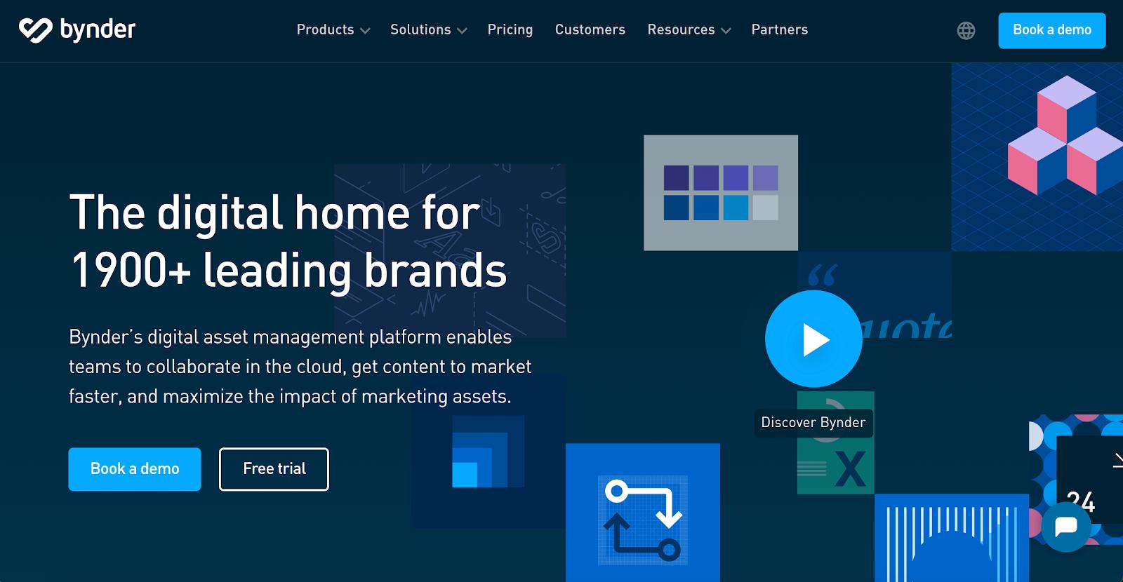 Bynder homepage