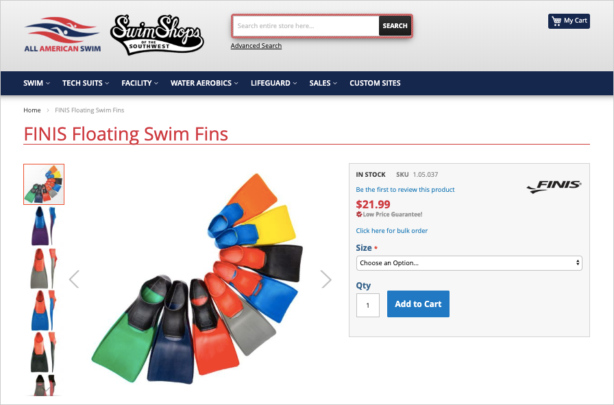 FINIS swimming fins
