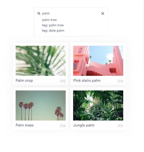 Image metadata search