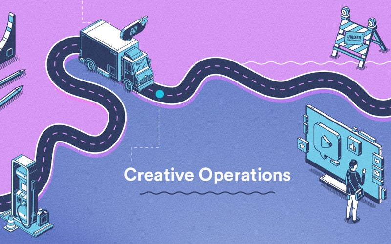 Creative operations clearing the road infographic