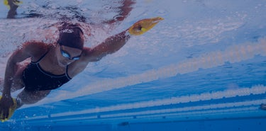 swimmer with FINIS gear