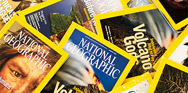 National Geographic magazine collage