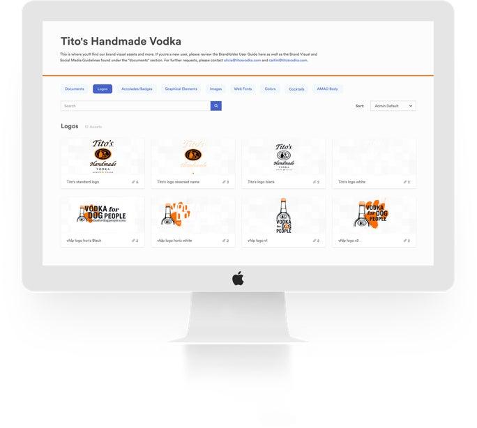 Tito's Vodka Brandfolder example
