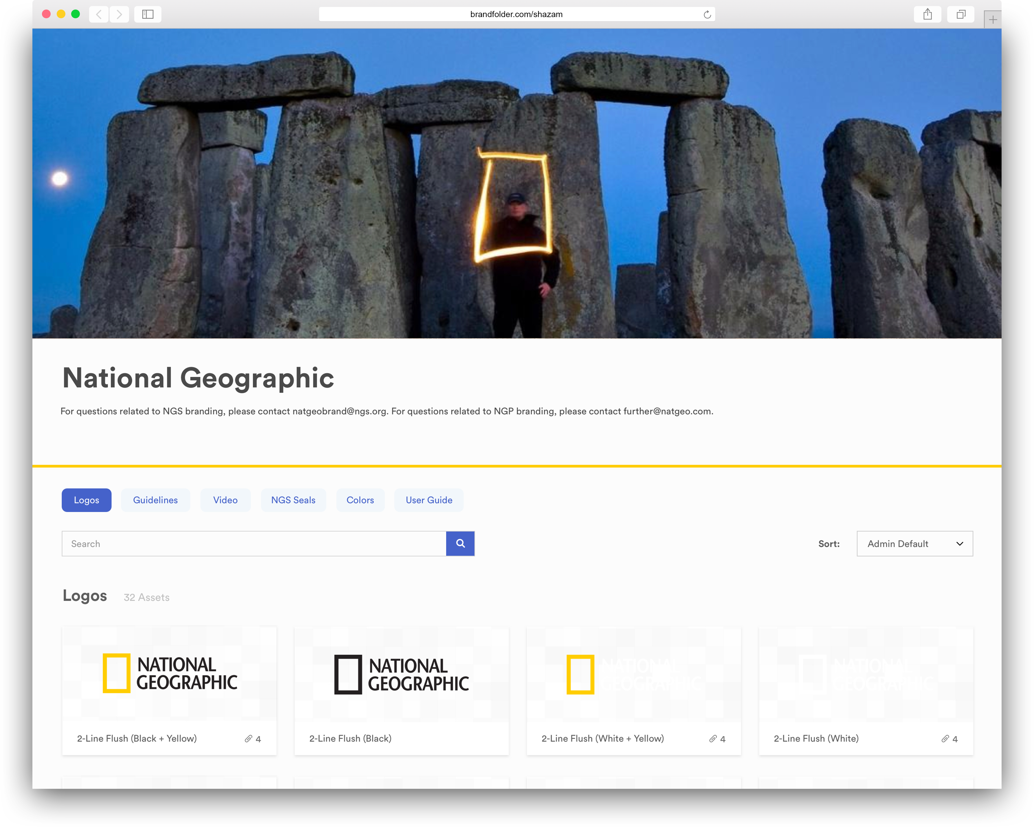 National Geographic Brandfolder example