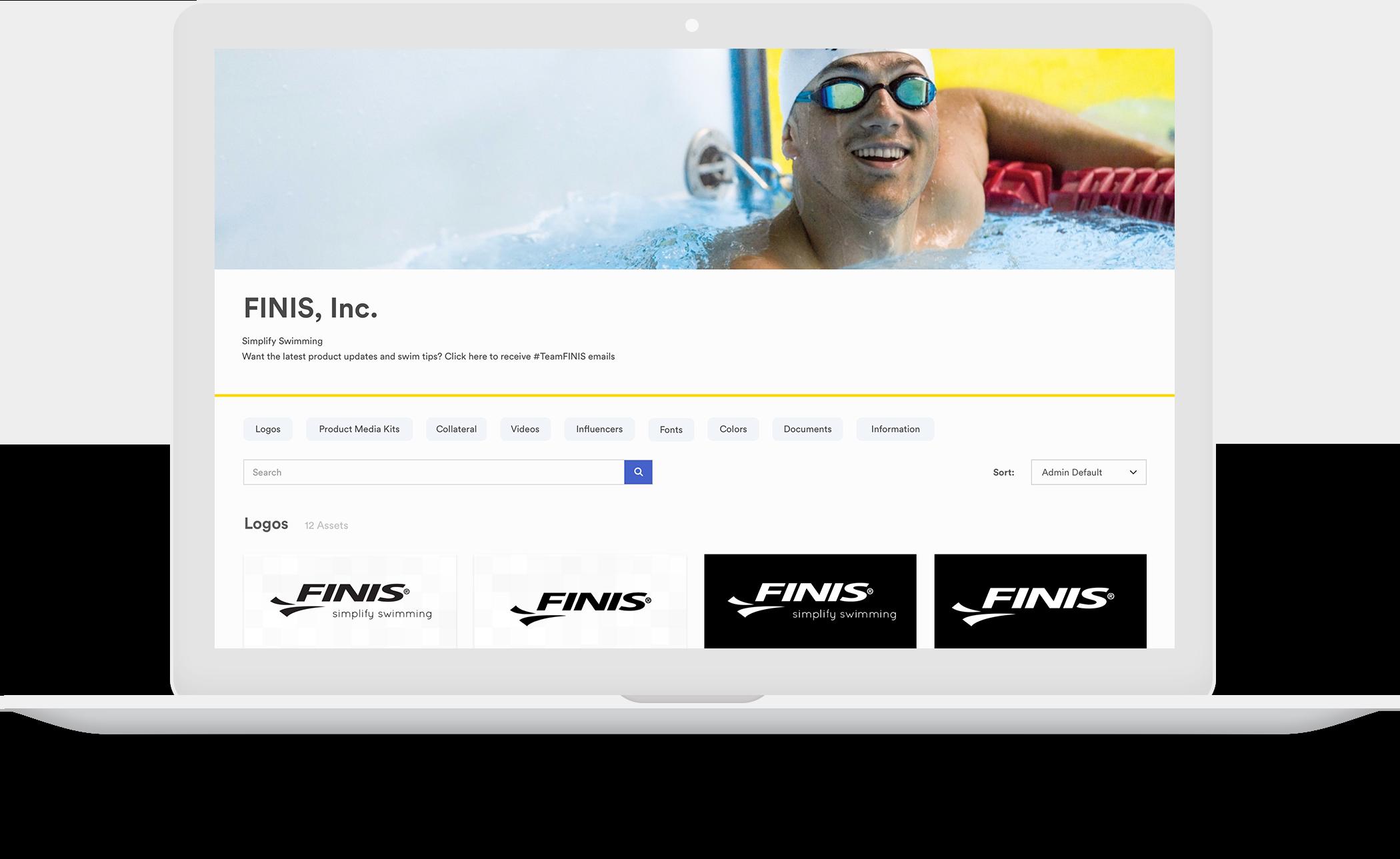 FINIS Brandfolder example