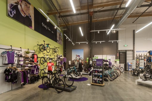 Giant Bicycles Liv brand in store