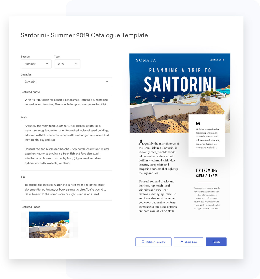 View of a template in Brandfolder
