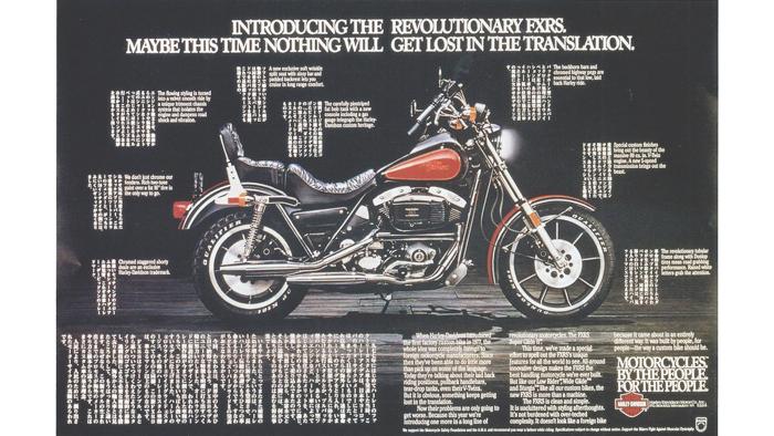 Harley Davidson ad campaign poster