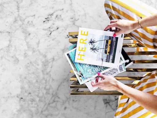 woman reading magazines