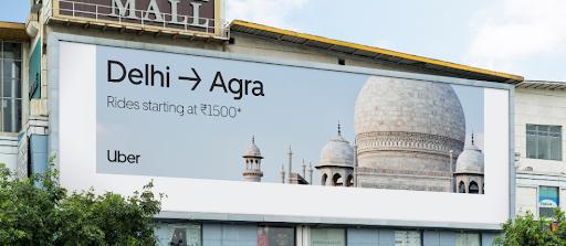Uber billboard