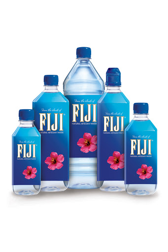Fiji water bottles