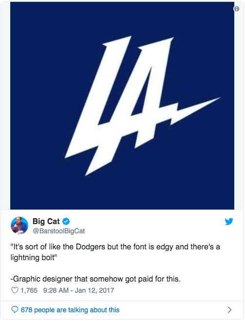 Los Angeles Chargers tweet