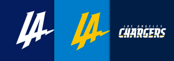 Los Angeles Chargers logo progression