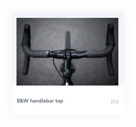 bicycles handlebars with AI auto-tags