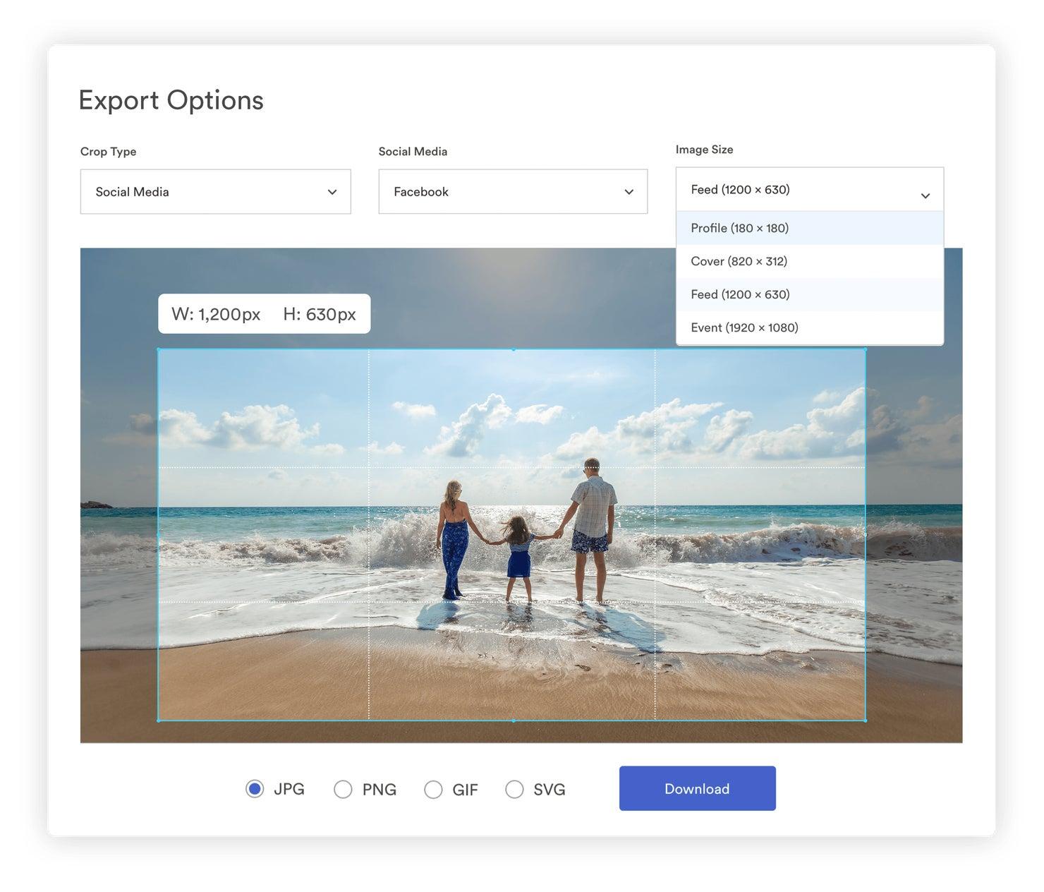 export preset options