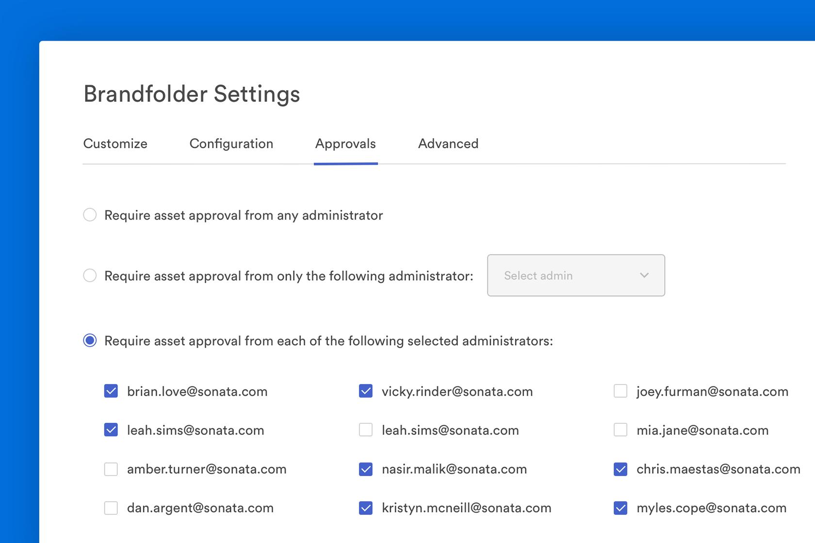 Brandfolder approval settings