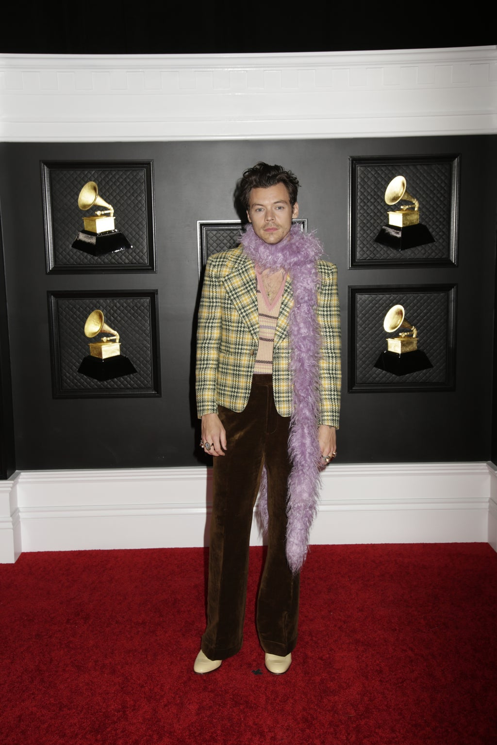 Harry Styles at the 2021 Grammy Awards Red Carpet
