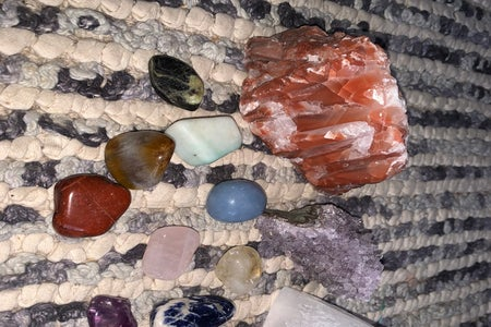 Images of crystals for a media cover photo