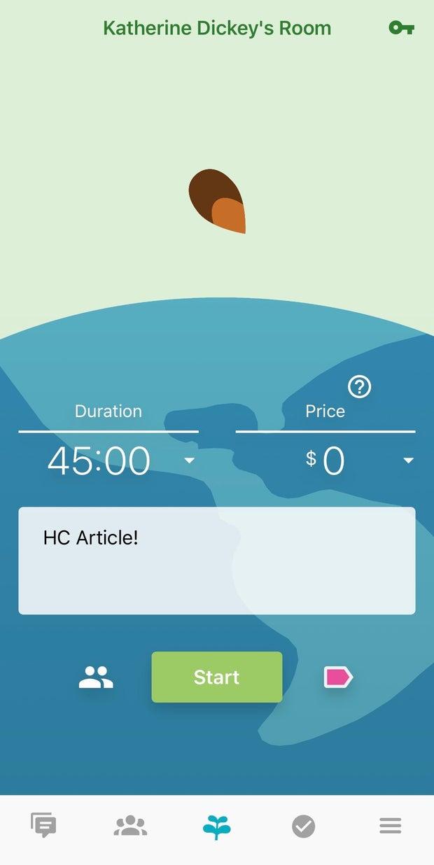 Screenshot of the Flora app