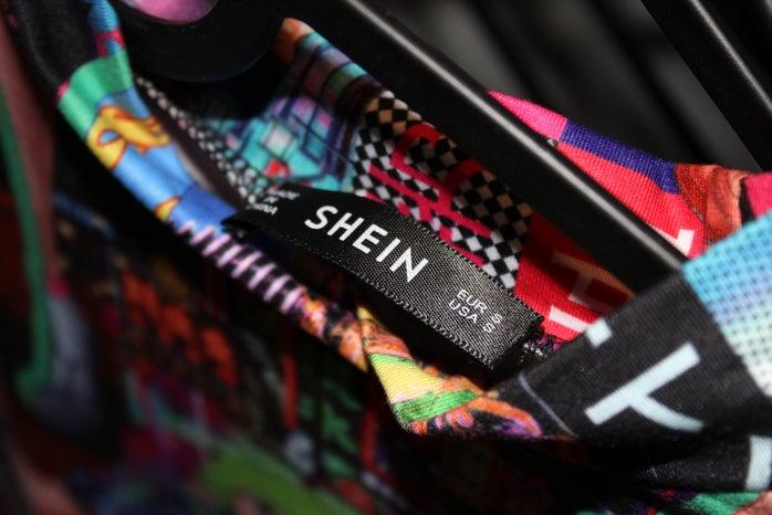 Shein clothing tag