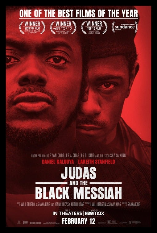 "Movie poster for ""Judas and the Black Messiah""."